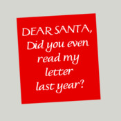 Dear Santa, Did You Even Read My Letter Last Year?