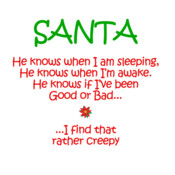 Santa He Knows When I Am Sleeping