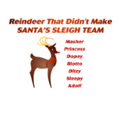 Reindeer That Didn't Make Santa's Sleigh Team