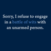I Refuse To Engage...